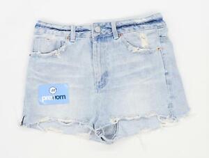 Womens-Asos-Blue-Denim-Shorts-Size-10-L1