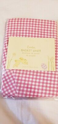 NWT Pottery Barn Kids Small Pink Tiered Ruffle Butterfly Easter Basket Liner NEW