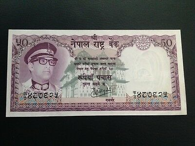 Nepal 33c Goat ND 50 Rupees 1983- 13 UNC /> King Birendra P-33 Sign