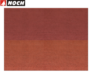 Noch-N-56970-3D-Kartonplatte-Plaque-Murale-034-Tuile-Plate-034-1-M-Neuf