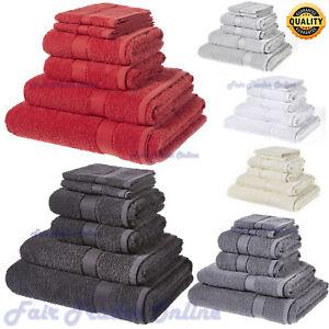 6-PC-TOWELS-BATHROOM-SET-SHEET-JUMBO-BALE-PURE-COTTON-PREMIUM-BLACK-500-GSM-NEW