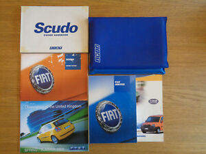 Fiat Scudo Owners Handbook/Manual and Wallet 96-02