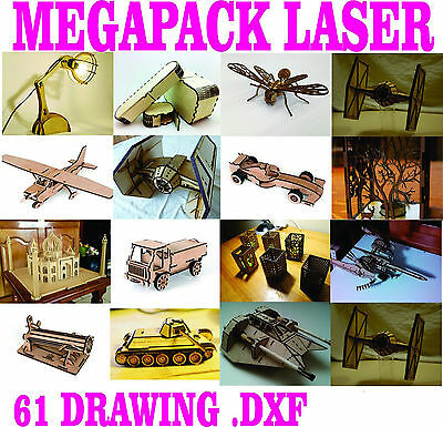 3D Puzzle  61 DRAWING .DXF MEGA PACK  FOR CNC LASER CUTTER