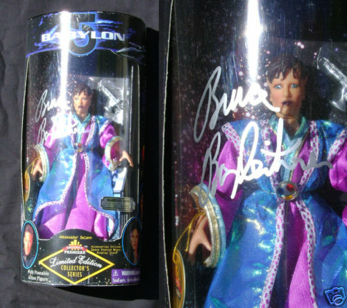 Babylon 5 Delenn 9 Inch AF signed 1997 WB Toys MIP