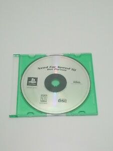 Need for Speed III: Hot Pursuit (Sony PlayStation 1, 1998) Disc Only. Tested