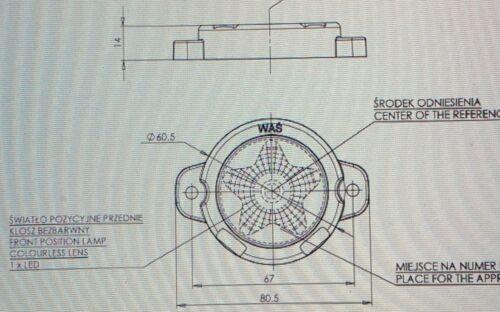 1 x LED Umrissleuchten Positionsleuchten PKW LKW Begrenzungsleuchten WAS 884