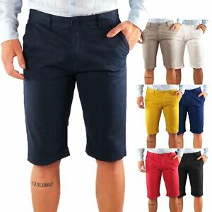 Bermuda-Uomo-Cotone-Slim-Fit-Jeans-Pantalone-Corto-Shorts-Pantaloncini-Casual
