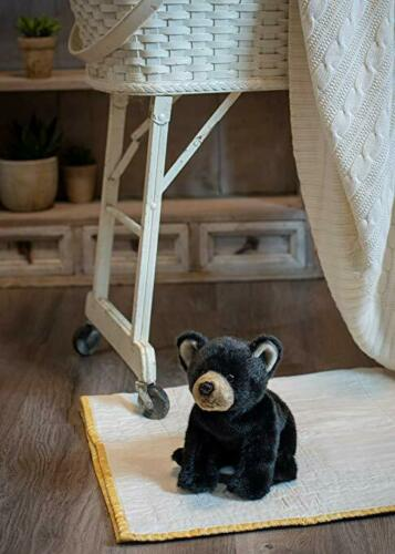 DEMDACO Nat and Jules Crawling Small Black Bear Childrens Plush Stuffed Animal