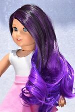 "Custom Doll Wig for 18"" American Girl doll Heat Safe Ag Deluxe Wig 10-11"" Cap"