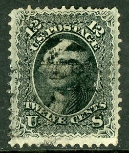 USA-1867-Washington-12-Noir-F-Gril-Perf-12-Scott-97-VFU-O828