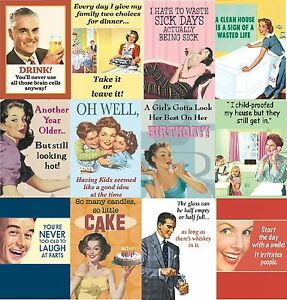 Image Is Loading Retro Comical Funny Humorous Greeting Birthday Cards