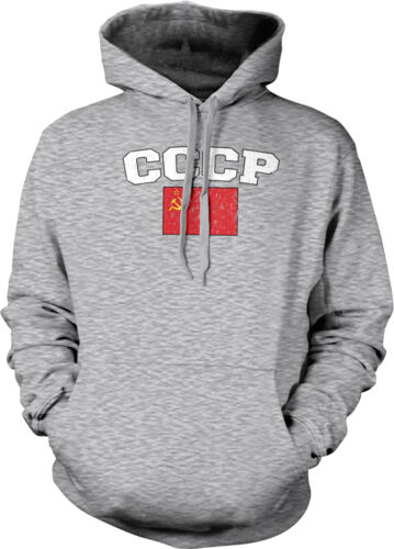 CCCP USSR Country Pride Flag Soviet Union Star Hammer Sickle Hoodie Pullover