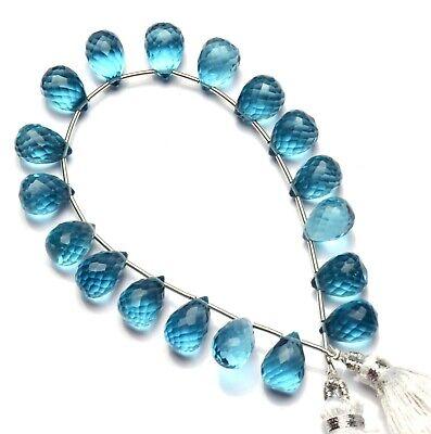 """Iolite Color Quartz 35x7MM Approx Faceted Long Teardrop Shape Briolette Beads 7/"""""""