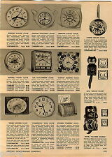 1956 ADVERT Clocks Lux Date Timer Tymeter Kit Kat Klocker Spaniel