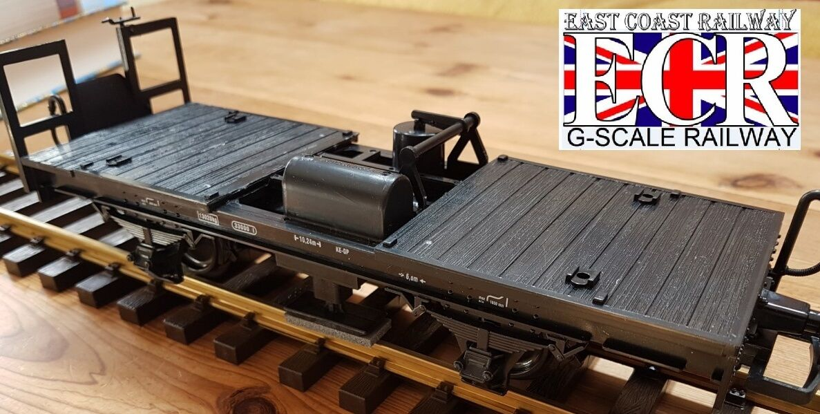 Tout Nouveau G Échelle 45mm Camion & Ajusté LGB Rail Nettoyant Chemin de Fer