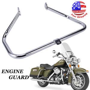 Chrome Mustache Engine Guard Highway Crash Bar Protector Frame for Harley Touring Road King Electra Street Road Glide 1997-2008