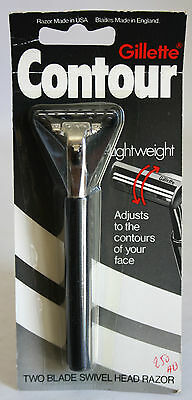 Vintage 80/'s Gillette Atra Pivoting Head Twin Blade Razor Unused Rare
