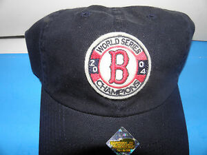 MLB Boston Red Sox 2004 World Series Champions Patch Logo Hat (NWOT)