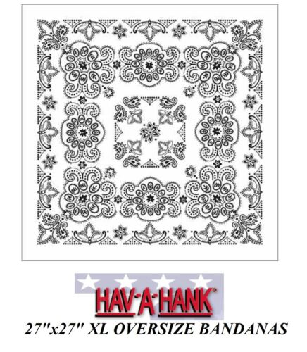 "XL BIG OVER-SIZE 27/"" PAISLEY Cotton BANDANA Head Skull Wrap Scarf Scarve Hanky"