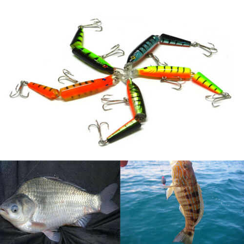 Jointed Lure Fishing Lures Crank Bait Crankbaits Tackle Hooks 10.5cm//9.6g*T*