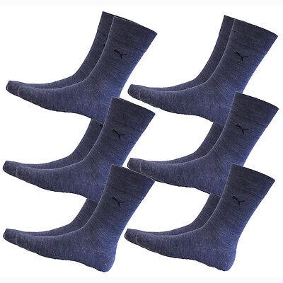 6 Paar PUMA Socken Klassisch 39 42 Businesssocken denim blue