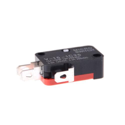 5Pcs V-15-1C25 KW9-0 Micro Limit Switch 15A 125//250VAFHFAD