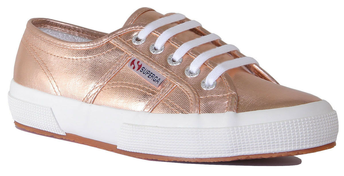Superga 2750 Cotmetu Damens Canvas Rose Gold Sneakers
