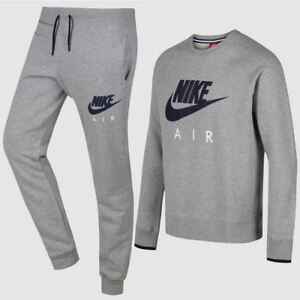 Details zu Nike Herren Air Max Fleece Trainingsanzug Grau (727385-063-TS)