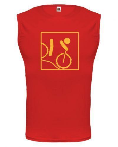 Unisex Muskelshirt ärmellos Tank Top Downhill-Piktogramm Abfahrt Profil Fahrrad