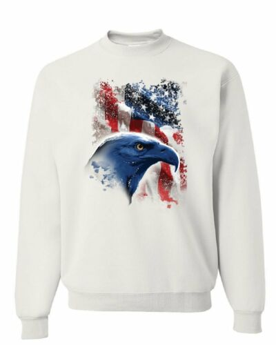 American Bald Eagle Sweatshirt American Flag 4th of July Patriotic Sweater