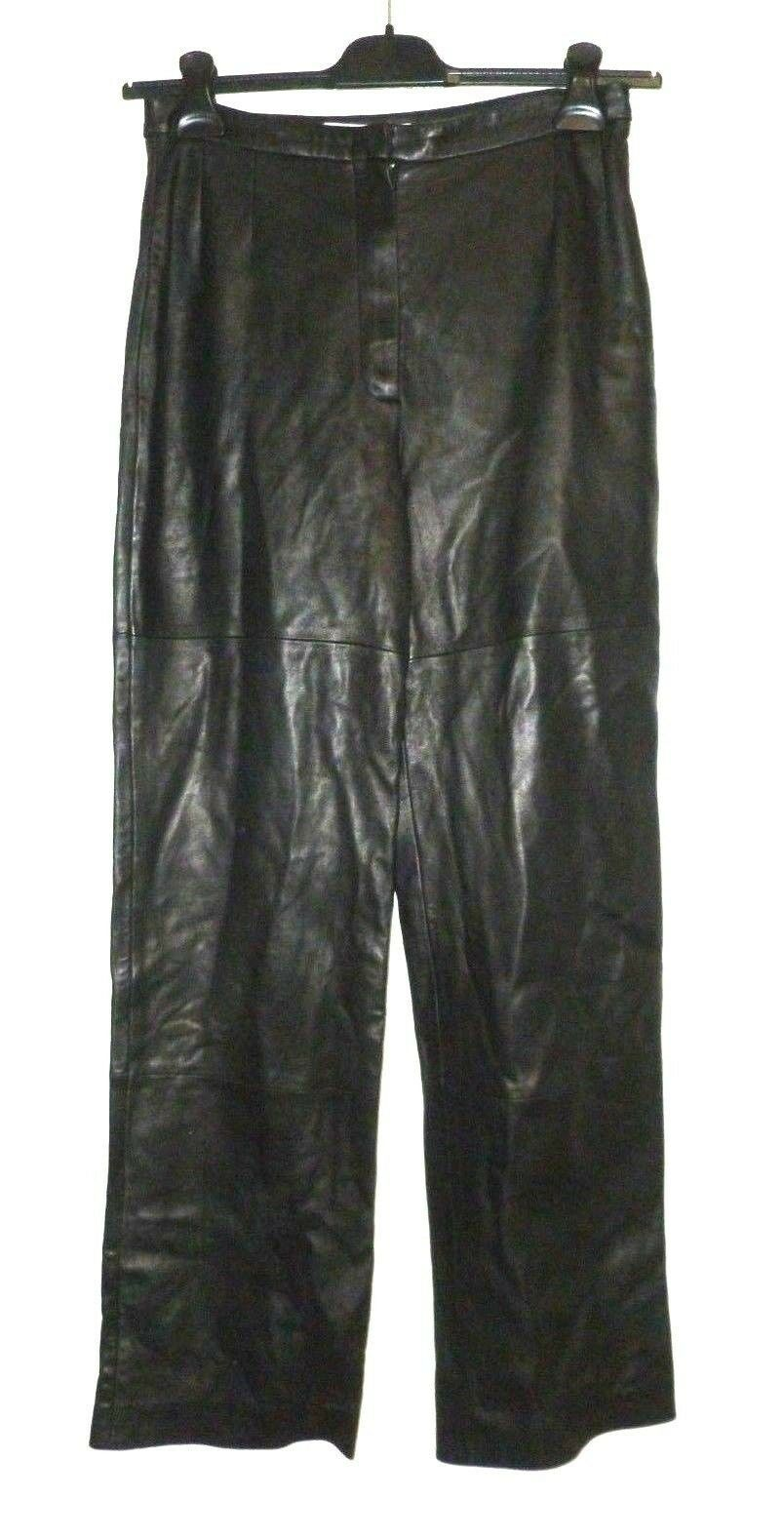 Max mara ladies leather trousers SIZE 28 inches USED VGC CR181 AA 10