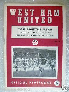1961-WEST-HAM-UNITED-v-WEST-BROMWICH-ALBION-11th-Nov-League-Division-One
