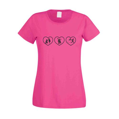 -Junggesellinnenabschied 3 Herzen Damen T-Shirt