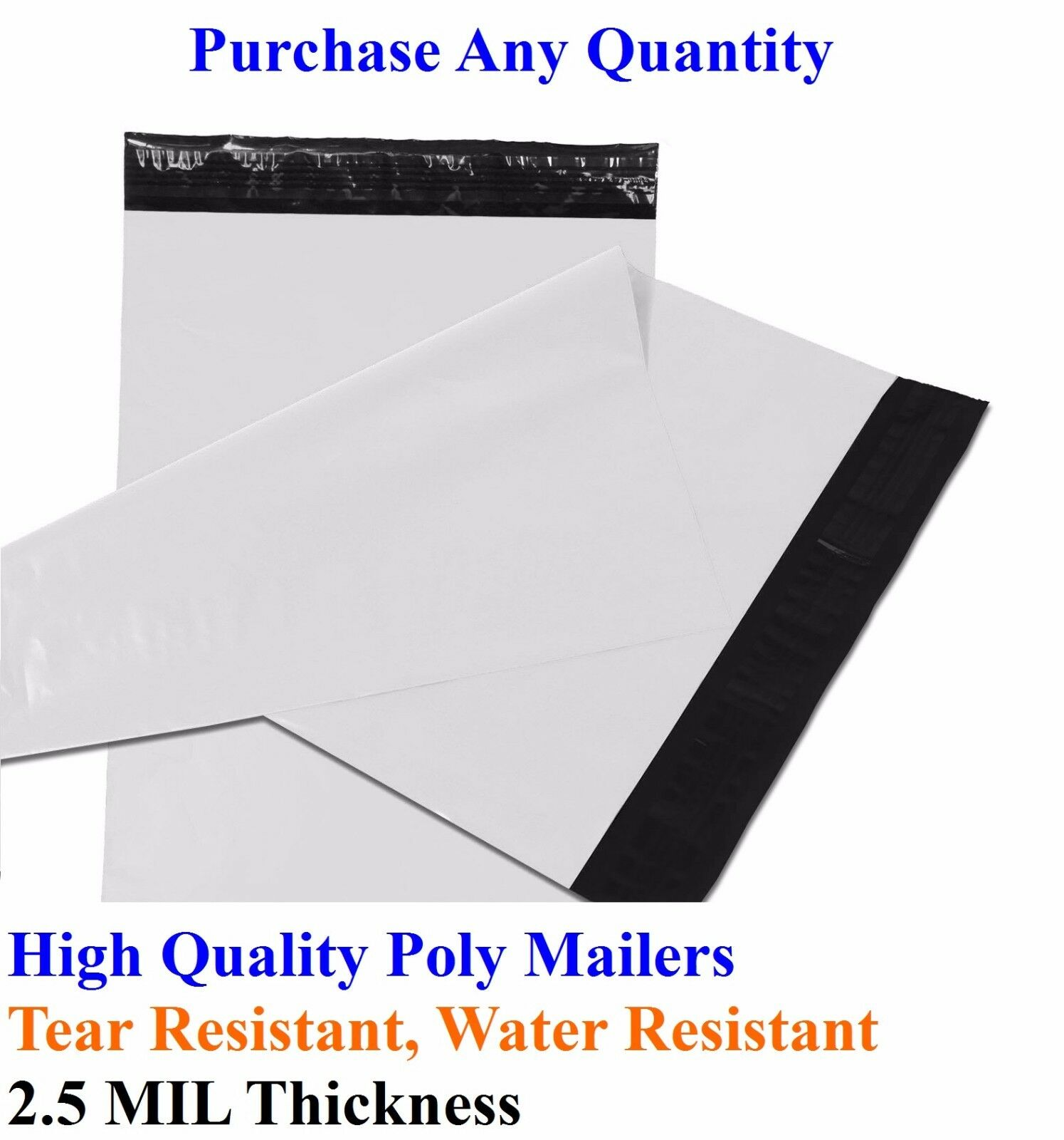 25-2000 19  x 24  Poly Mailers Envelopes Plastic Shipping Bag Mailing 19x24 Inch