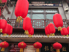 2 JAPANESE L 36cm RED LANTERN CHINESE GARDEN WEDDING SUSHI BIRTHDAY PARTY A12