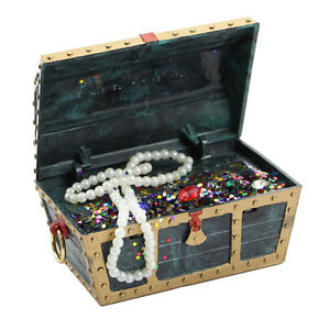 New decor treasure action air aquarium chest box ornament for Fish tank treasure chest