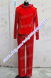 Image is loading Smallville-Flash-Impulse-Cosplay-Costume-Red-Halloween- Outfits- & Smallville Flash Impulse Cosplay Costume Red Halloween Outfits ...