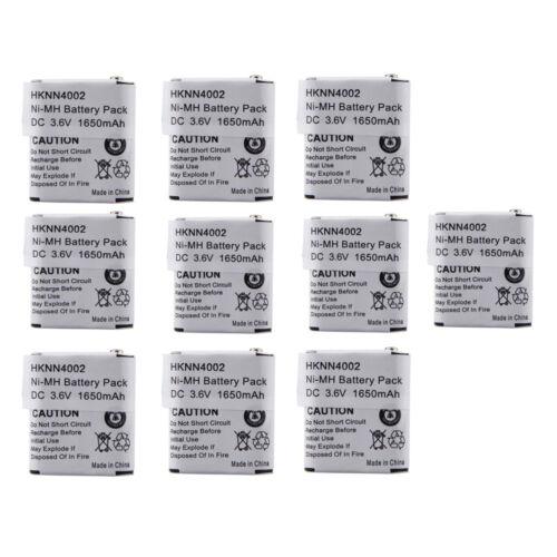 10X NiMH Battery for MOTOROLA 56315 HKNN4002 HKNN4002A HKNN4002B KEBT-071-A