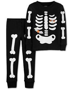 New-Carters-Toddler-Boys-2-Piece-Glow-In-The-Dark-Skeleton-Pajama-Set-2-3-4-5