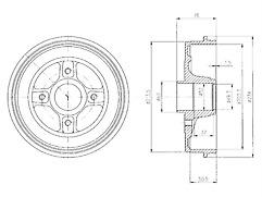 BF480 Genuine Delphi Rear Brake Drum