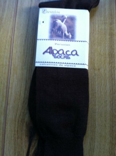 Black One size fits Most Alpaca Dress Sock Over the Calf