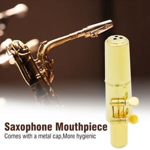 Jazz-Alto-Sax-Saxophone-Mouthpiece-Metal-with-Mouthpiece-Cap-amp-Pads-Professional