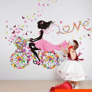 Wall Stickers Removable Fairy Wing Girl Butterfly Kids Mural Room Decal Romantic
