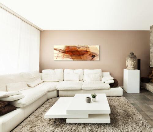 Leinwandbild Panorama rot braun grau creme Paul Sinus Abstrakt/_790/_150x50cm