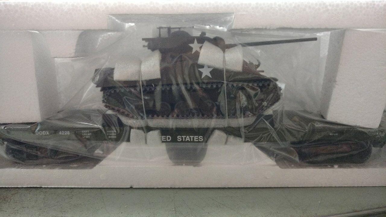 30-7093B MTH Railing - O Scale - 3 Rail Flat Car w 1 Sherman Tanks M4A3 76mm