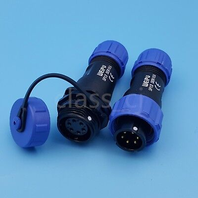 1Set SP13 6Pin IP68 Waterproof Cable Butt Circular Plug Socket Connector
