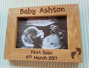 Personalised-engraved-baby-scan-photo-frame