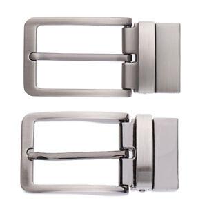 Men/'s Metal Reversible Belt Buckle Replacement Pin Buckle Rectangle Silver