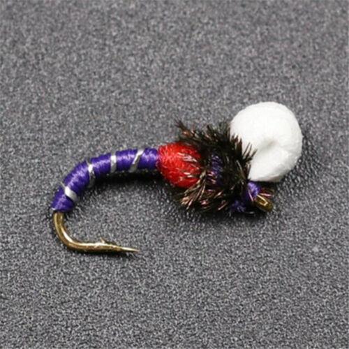 6 Colors 10PCS//Set #14 Suspender Buzzer Nymph Fly Fishing Flies Trout Buzzers