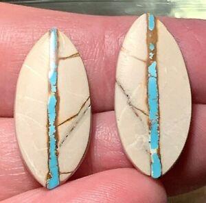 (C video) FABULOUS!! little matching pair BRIGHT BLUE ROYSTON RIBBON TURQUOISE!